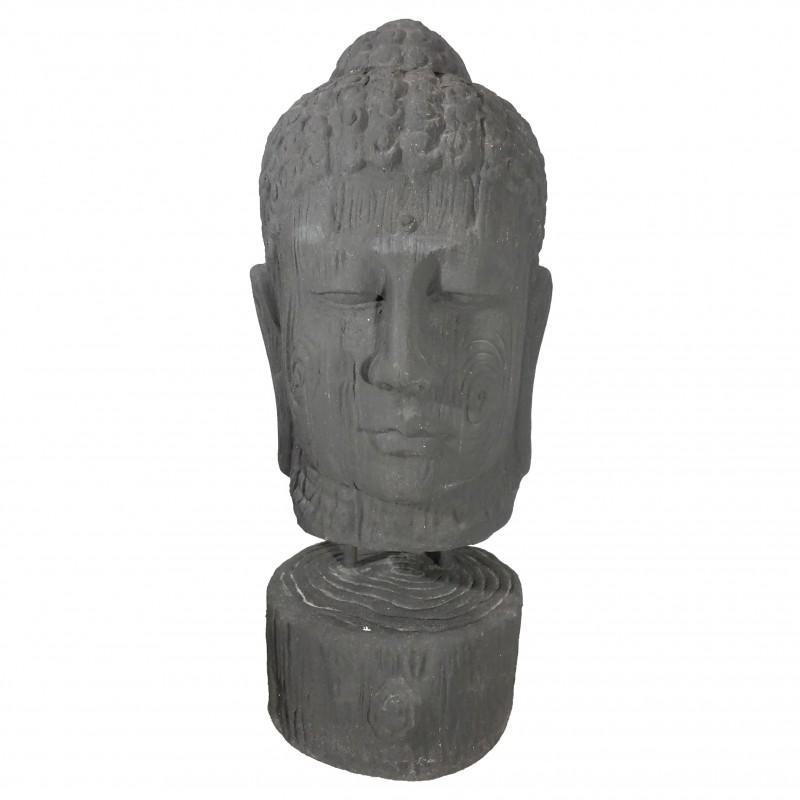 L BUDDHA HEAD HEYKEL